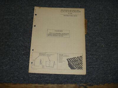 Jd John Deere 41 41a 41b Side Dressers Dry Fertilizer Parts Catalog Manual Pc504