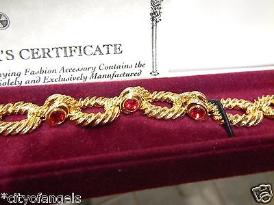 - JACKIE Kennedy Yellow Redsimulat Ruby BRACELET CAMROSE KROSS Designed by CARTIER