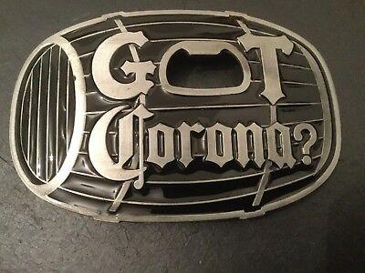 CORONA Beer Cerveza Logo BELT BUCKLE Bottle Opener New Metal Mexican Beer