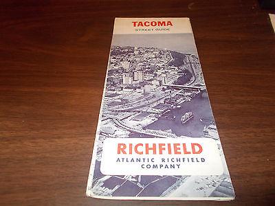 1966 Richfield Tacoma Vintage Road Map
