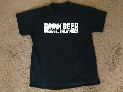 Beer Large T-shirt - 10 Barrel Brewing Co Drink Beer Craft Brewery Bend OR Tee T-Shirt Size Large L!