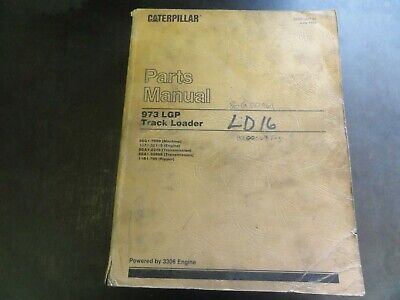 Caterpillar Cat 973 Lgp Track Loader Parts Manual  Sebp1387-07