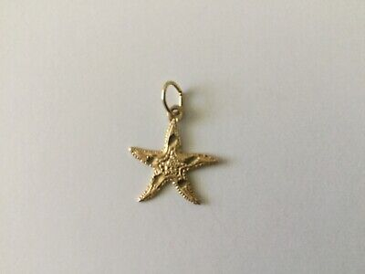 14K YELLOW GOLD DIAMOND CUT SEA STAR STARFISH (Diamond Cut Star Pendant)
