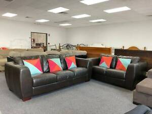 TODAY DELIVERY GENUINE LEATHER 3X2 Sofas set QUICK SALE