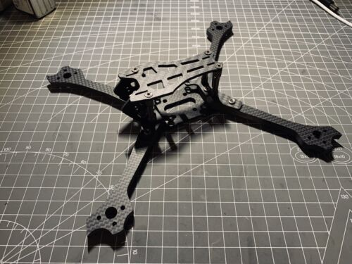 Self made FPV racing drone/quad frame 5inch with 6mm arms
