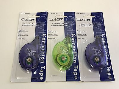 3 Lot Tombow 68675 Mono Correction Tape Assorted White Tape 16x 394