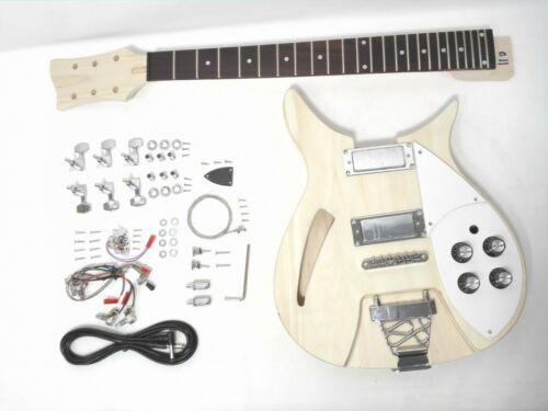 Set Neck Electric Guitar DIY-Full Kit,Semi-Hollow Body,No-Soldering.GK HSRC 1910