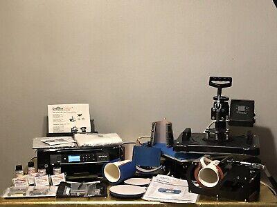 T Shirt Printing Machines Kit Printer Heat Press8 On 1 Printerheat Press