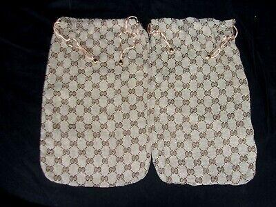 Authentic Vintage Gucci Shoe Drawstring Dust Bags