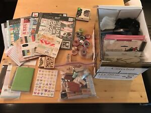 GIANT lot of NEW and used scrapbooking supplies