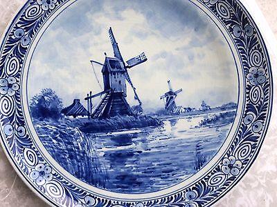❤️ Delfter -Wandteller- Blau- aus Sammlung , ca.23cm Windmühlen Motiv ❤️