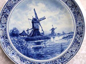 ❤️ Delfter  Sammel-Wandteller blau 23cm Windmühlen Motiv ❤️