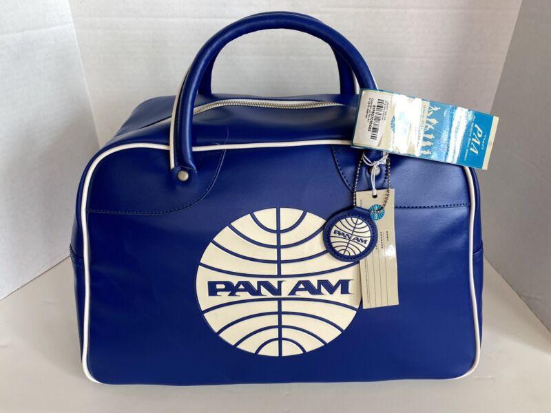 """PAN AM """"Explorer"""" Bag Originals Certified Vintage Style Pan Am Blue"""