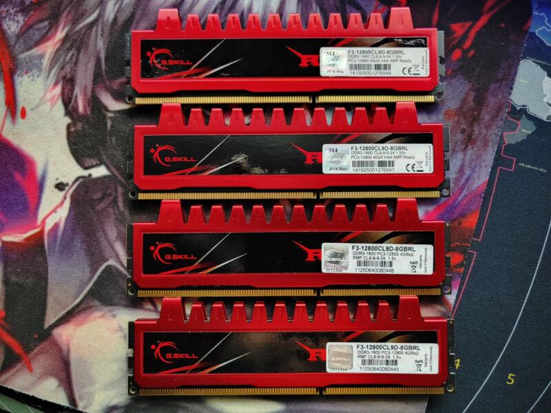 G. SKILL Ripjaws 16GB 4x4GB 1600 MHz PC3-12800 DDR3 RAM CL9 (F3-12800CL9D-8GBRL)