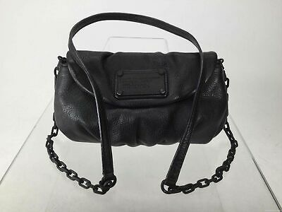 MARC Marc Jacobs Black Pebbled Leather Crossbody