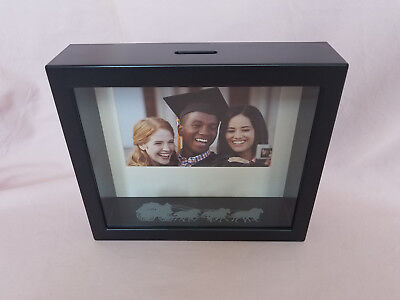 New Wells Fargo Picture Frame Coin Bank Graduation Retirement Shadow Box Style