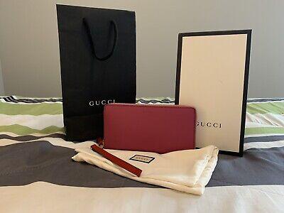 NEW GUCCI Zip Around Wallet Clutch - Pink & Smooth! Look Now!