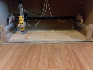 Turnkey 3 axis cnc router with laptop and software.