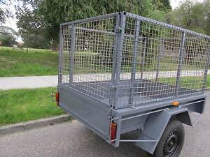 TRAILER 6X4 WITH  870 MM HIGH CAGE 1 YEAR LICENCE LIKE NEW Como South Perth Area Preview