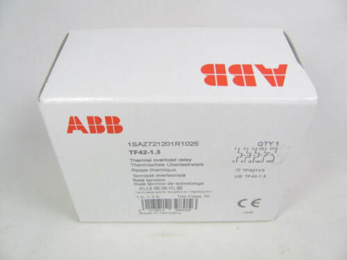 ABB, Thermal Overload Relay, TF42-1.3, Trip Class 10, New in Sealed Box, NIFSB