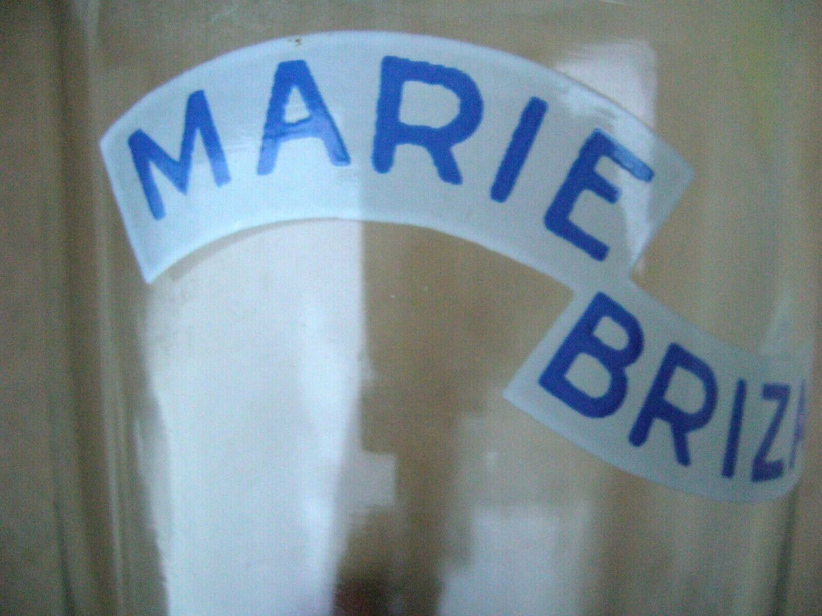 Marque  marie brizard  ancien verre soufflé  bordeaux france