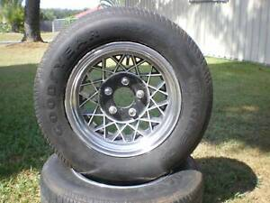 mag wheels with nuts an tyres suit holden hg to wb stud pattern