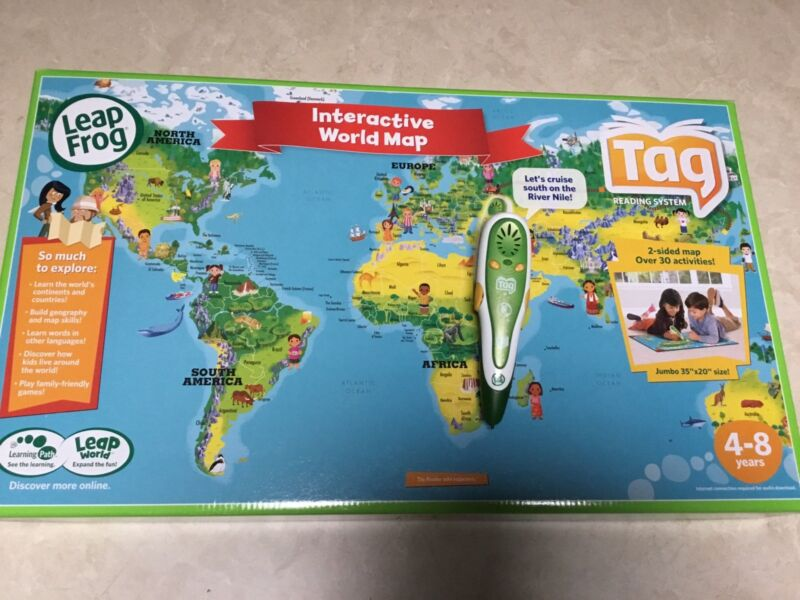 Leapfrog interactive map tag reader per toys indoor gumtree 1 of 1 gumiabroncs Gallery
