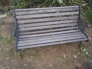 Cast Iron Outdoor Garden Bench Seat Stockleigh Logan Area Preview