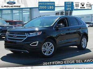 2017 Ford Edge SEL**AWD*CUIR*TOIT*GPS*CAMERA*BLUETOOTH*A/C**