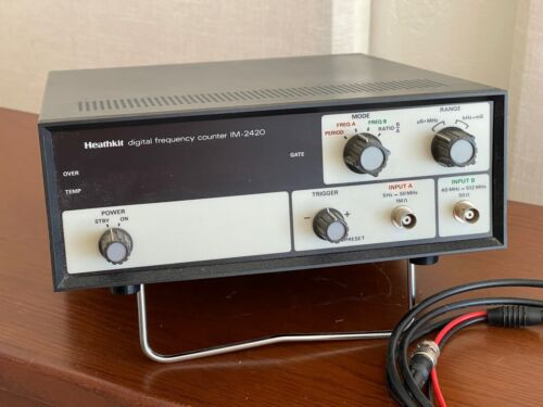 Heathkit IM-2420 512 Mhz Frequency Counter with new test lead set. Tested.