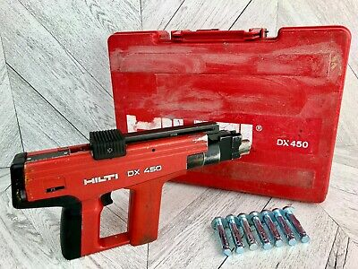 Hilti Dx450 Powder Actuated Tool Heavy Duty Nailer Fastener Steel Concrete