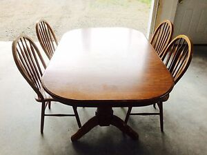 Elegant Oak Table & Chairs