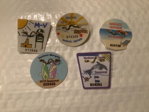 5 Collectible New Jersey Beach Tags/Badges 2011, 2013, 2018, 2019 & 2020