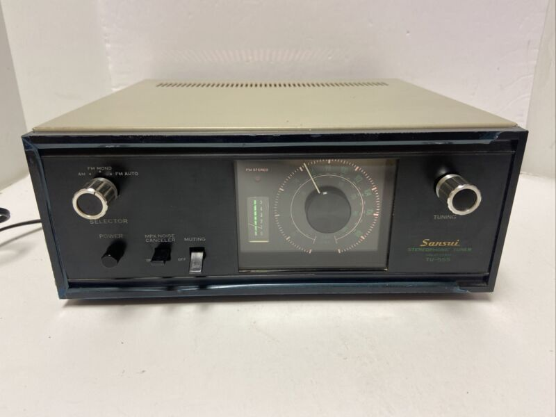 Vintage SANSUI Stereophonic TUNER Solid State TU-555 Tested & Working Near Mint
