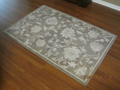 Home Dynamix China (Westwood Home Dynamix Non-Skid Latex back tan w ivory pattern accent rug 3)
