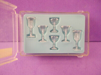 Inch (1:12)scale Old Store Stock Chrysnbon Clear Glasses Wine Water EstateSale