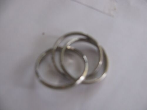 Silver Color Interlocking Three 3 Band Rolling Ring  size11