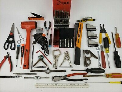 Mixed Tool Lot Stanley Dead Blow Hammer Bostitch Stapler Vise Grip Extractor