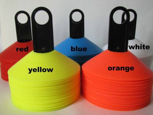 25pc Heavy Duty Field Marking Disc Cones,White,Blue,Red,Orange,Yellow,Soccer,NEW