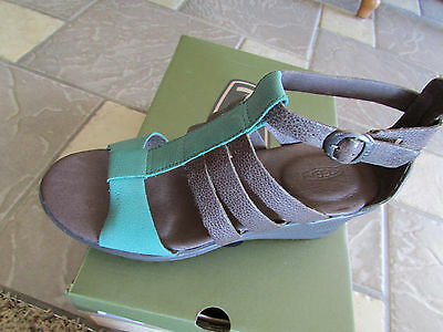 Women's Keen 'Victoria' Leather Wedge Sandal, Size 7 M - Bro