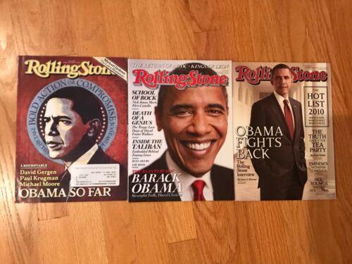 Lot 3 Rolling Stone Magazine President Barack Obama Cover Story 2008 2009 2010