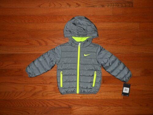 NWT Nike Toddler Boys grey puffer jacket, Size 2T