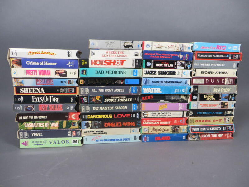 Lot of 47 Vintage Betamax Beta Movie Tapes Horror Sci-Fi Comedy Action Cartoon