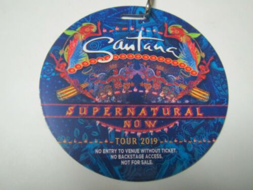 CARLOS SANTANA BAND SUPERNATURAL NOW HITS TOUR 2019 VIP SOUVENIR BACKSTAGE PASS