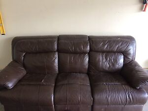 Leather couch and love seat $75