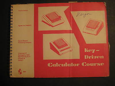 Vintage 1962 Key Driven Calculator Course Softcover Textbook 152 Pgs 256