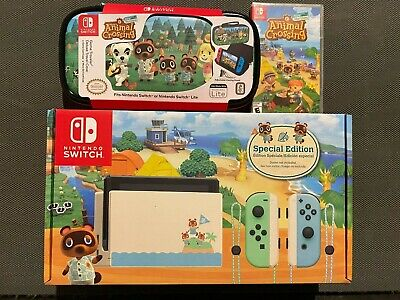 Nintendo Switch Animal Crossing New Horizons Edition Console, Game & Travel Case