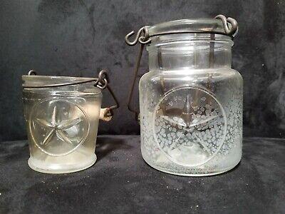 YANKEE CANDLE MATCHING VOTIVE CANDLE JAR SET STAR AMERICANA THEME