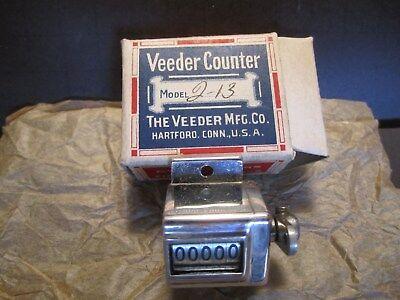 Vintage Veeder Root 5-Digit Mechanical Lever Counter NOS.