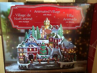 NEW IN BOX LED Animated Christmas Village with Musical Features